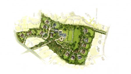 HUB assist with the design of a masterplan and gaining planning permission for 22 new homes set in the landscaped grounds of Kingswood Warren