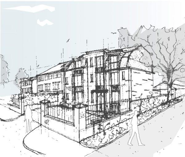 1148-Woodside Avenue SK-101RevA Sketch Scheme -Street View