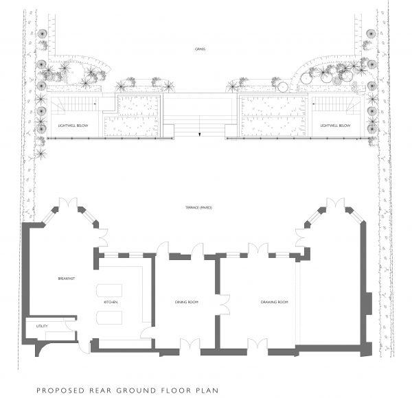 1150-PL-24 Proposed Rear Ground Floor Plan (REVB)