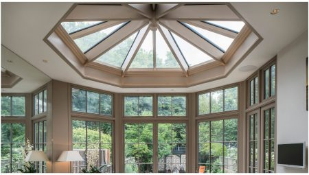 Internal view of a new traditional style conservatory roof and rear extension to compliment the style of the Grade 2 listed property