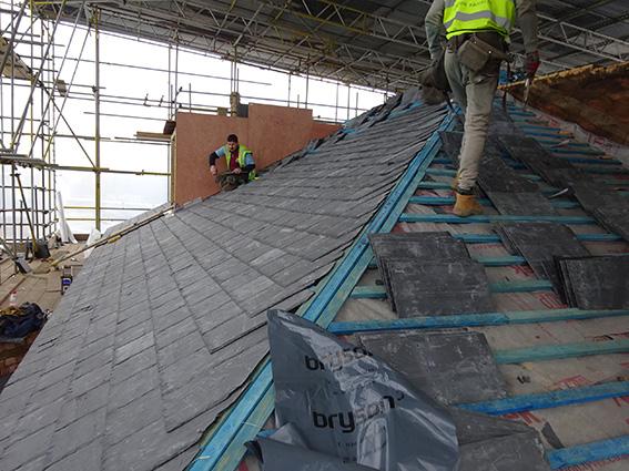new welsh slate roof